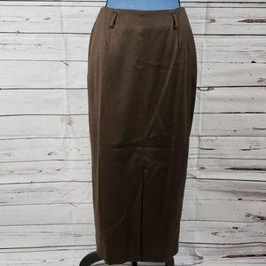 NWT Brown 100% Pure Wool VALERIE STEVENS Skirt
